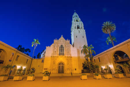 balboa: San Diegos Balboa Park at twilight in San Diego California USA Stock Photo