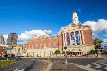 hartford: Hartford, CT- OCTOBER 15: Bushnell Center for the Performing Arts in Hartford on October 15, 2014. It was built in 1930 by Dotha Bushnell Hillyer as a living memorial to her father.
