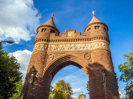 passageway: Soldiers and Sailors Memorial Arch in Hartford, Connecticut commemorating the Civil War.