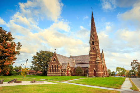 episcopal: The Church of the Good Shepherd Episcopal, Gothic church in New England Stock Photo
