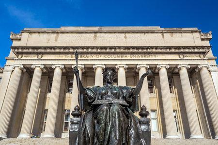 alma: Columbia University of New York in winter