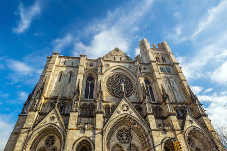 episcopal: Cathedral of St. John the Divine, head church of Episcopal Diocese of New York Stock Photo