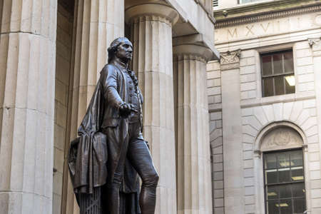 nyse: Wall Street New York and Federal Hall