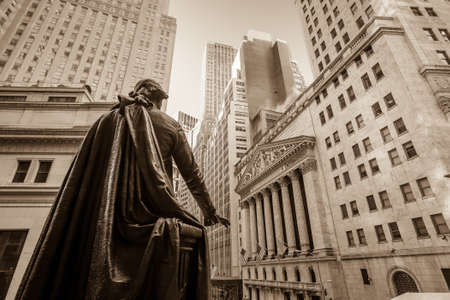 bolsa de valores: Wall Street en Nueva York