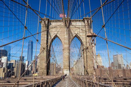 bridge: Brooklyn bridge, New York City. USA.