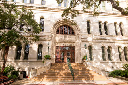 Ville de San Antonio City Hall, Texas Banque d'images