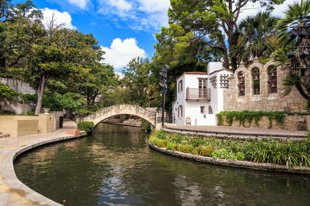 River Walk in San Antonio, Texas USA 版權商用圖片