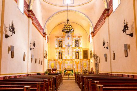 san jose: Interior of Mission San Jose is a historic Catholic mission in San Antonio, Texas, USA Editorial