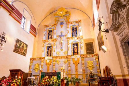 mision: Interior de la Misi�n de San Jos� es una hist�rica misi�n cat�lica en San Antonio, Texas, EE.UU.