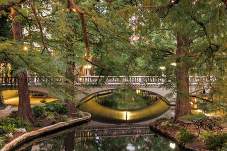 River Walk in San Antonio, Texas USA Stock Photo