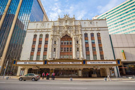 indianapolis: INDIANAPOLIS, INDIANA, April 14, 2015: Indiana Repertory Theatre, frequently abbreviated IRT, is a professional regional theatre in Indianapolis Editorial