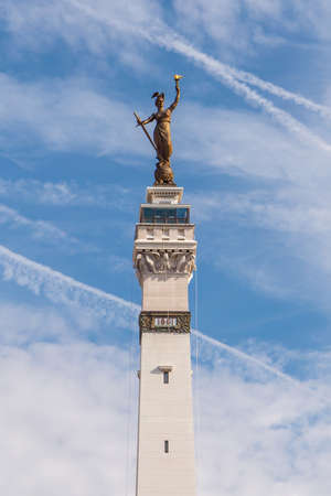 indianapolis: Lady Victory Statue at Monument Circle in Indianapolis Stock Photo