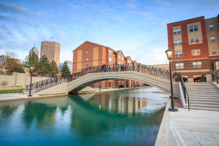 indianapolis: Downtown of Indianapolis by Indiana Central Canal