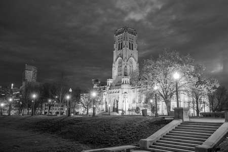 indianapolis: Scottish Rite Cathedral in downtown Indianapolis at sunset