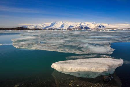 glacial: Iceberg in Jokulsarlon glacial lagoon Iceland