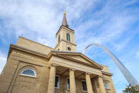 st louis: The old Basilica Cathedral in St. Louis