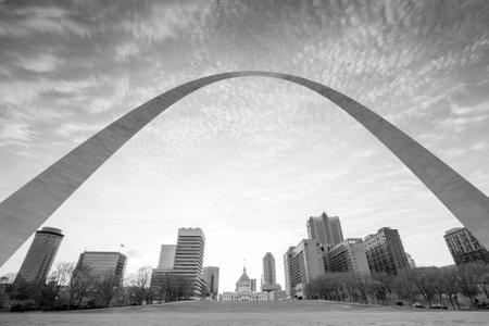 st louis: City of St. Louis skyline at twilight.
