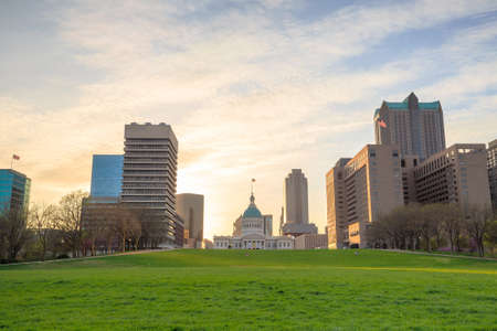 st louis: City of St. Louis skyline. Image of St. Louis downtown Stock Photo