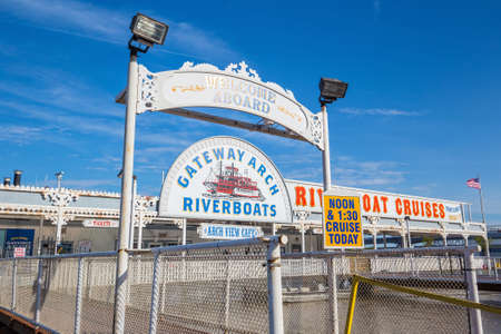 st louis: ST. LOUIS - April 12: Gateway Arch Riverboat Cruises on April 12, 2015. The boat were brought to St. Louis in 1964