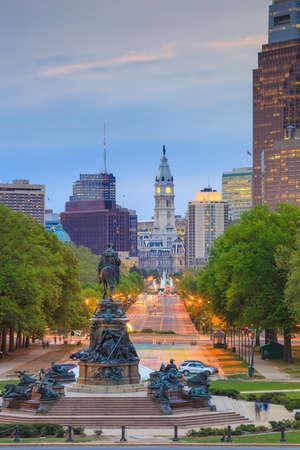 Beautiful Philadelphia skyline at night
