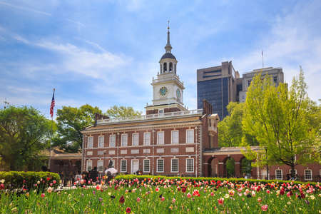 Independence Hall in Philadelphia, Pennsylvania. 스톡 콘텐츠