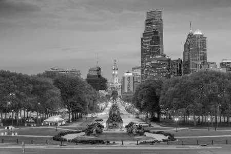 philadelphia: Beautiful Philadelphia skyline at night