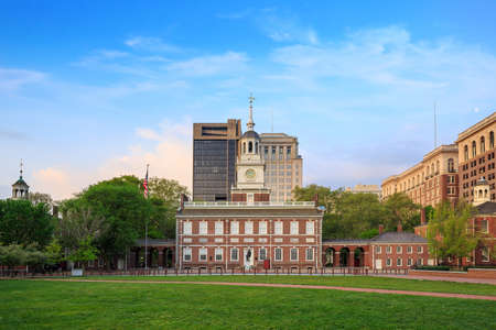 independencia: Independence Hall in Philadelphia, Pennsylvania. Foto de archivo