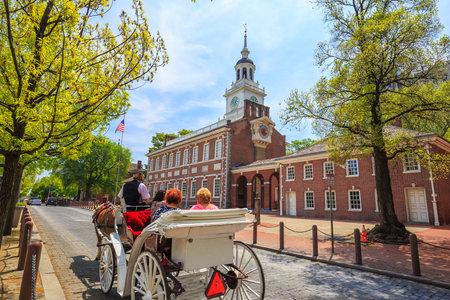 independencia: Independence Hall de Filadelfia, Pensilvania.