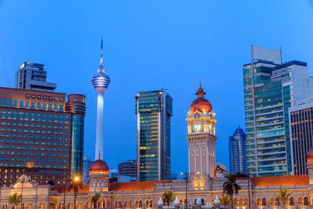 merdeka: Merdeka Square in downtown Kuala Lumpur at twilight