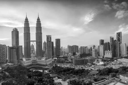 lumpur: Top view of Kuala Lumper skyline at twilight Stock Photo