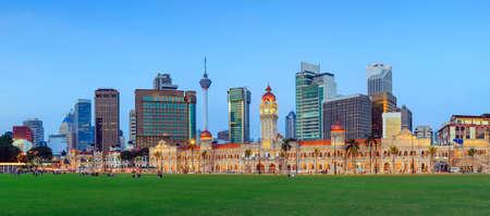 Merdeka Square in downtown Kuala Lumpur at twilight