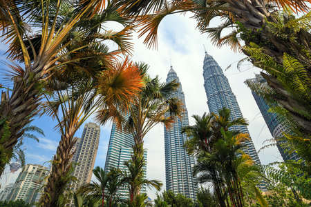 lumpur: Landscape of downtown kuala lumper with blue sky Stock Photo