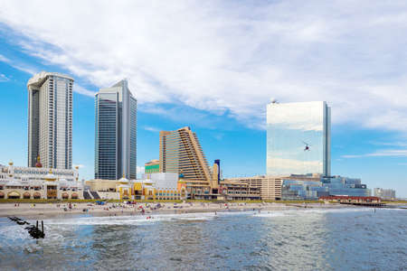 atlantic city: The city skyline  in Atlantic City, New Jersey. Stock Photo