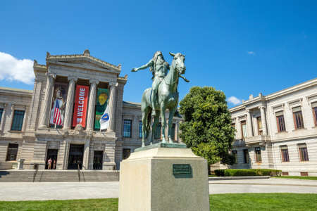 Boston, MA, USA - August 14: Museum of Fine Arts, Boston on August 14, 2015. It is one of the largest museums in the United States. It contains more than 450,000 works of art.