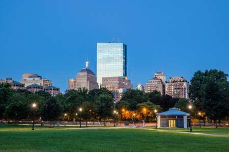 boston common: The Boston Common at night in Boston MA, USA