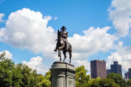 boston common: George Washington monument in Public Garden Boston Massachusetts USA