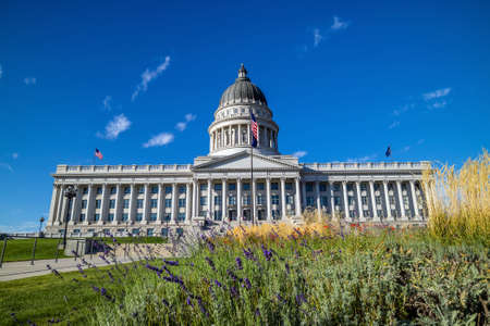 salt lake city: Utah State Capitol Building in Salt Lake City