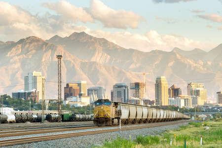 sal: Salt Lake City horizonte de Utah en EE.UU.