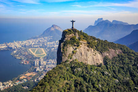 Aerial view of Christ the Redeemer and Rio de Janeiro city, Brazil Stock Photo - 47981666