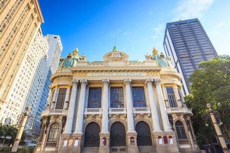 rio de janeiro: The Municipal Theatre in Rio de Janeiro. Brazil