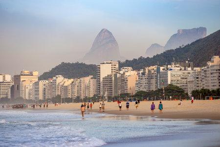 rio de janeiro: View of Copacabana beach in Rio de Janeiro. Brazil