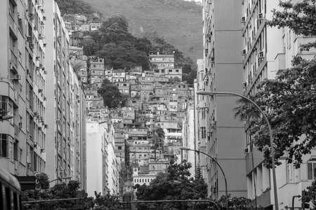 janeiro: Rio de Janeiro downtown and favela Brazil