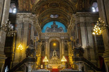rio: Candelaria Church in downtown in Rio de Janeiro, Brazil Editorial