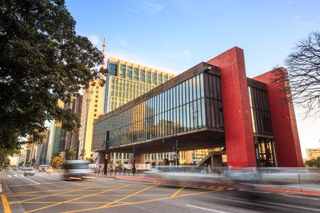Sao Paulo - JULY 20: The Sao Paulo Museum of Art on July 20, 2015. Located on Paulista Avenue in the city of Sao Paulo, Brazil,