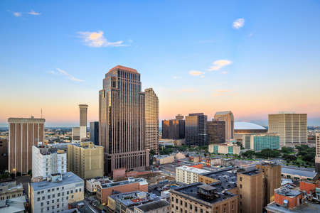 nowy: Downtown New Orleans, Louisiana, USA