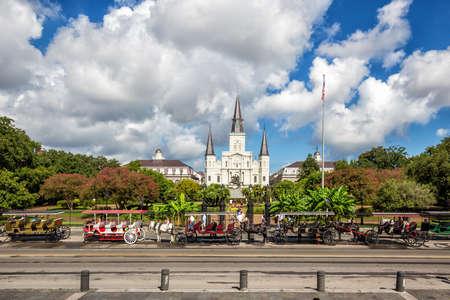 Cathédrale Saint-Louis dans le quartier français, New Orleans, Louisiana Banque d'images - 50671904