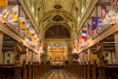 jackson: Interior of St. Louis Cathedral in Jackson Square New Orleans, Louisiana, United States