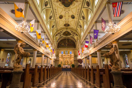 Interior of St. Louis Cathedral in Jackson Square New Orleans, Louisiana, United States Editorial