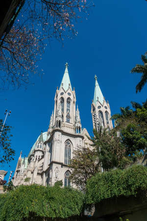 se: Se Cathedral in downtown Sao Paulo Brazil
