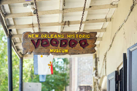deadman: NEW ORLEANS, LOUISIANA - AUGUST 25: Voodoo Museum in the French Quarter, downtown New Orleans on August 25, 2015.